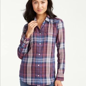 Tommy Bahama Congo Plaid long Sleeve camp shirt
